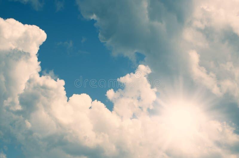 在云彩之间 库存图片