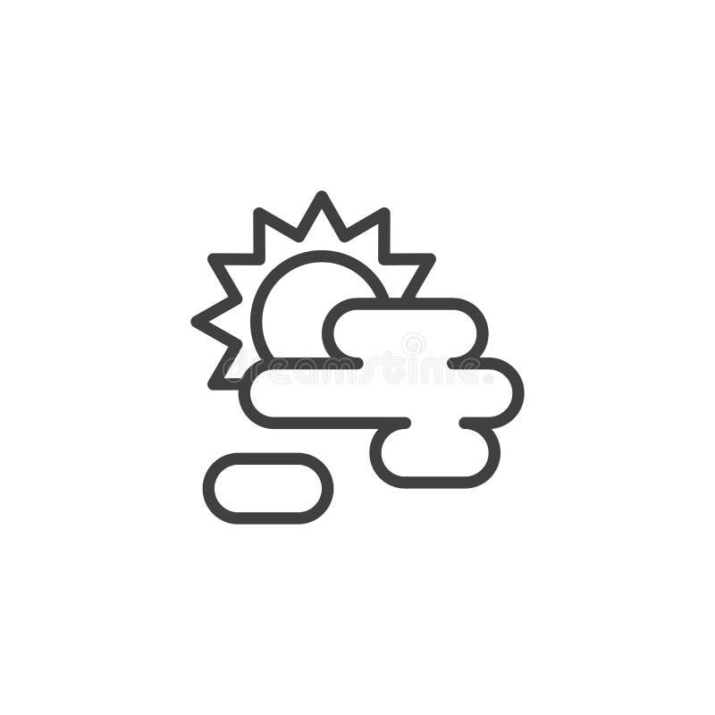 在云彩后的太阳排行象 向量例证