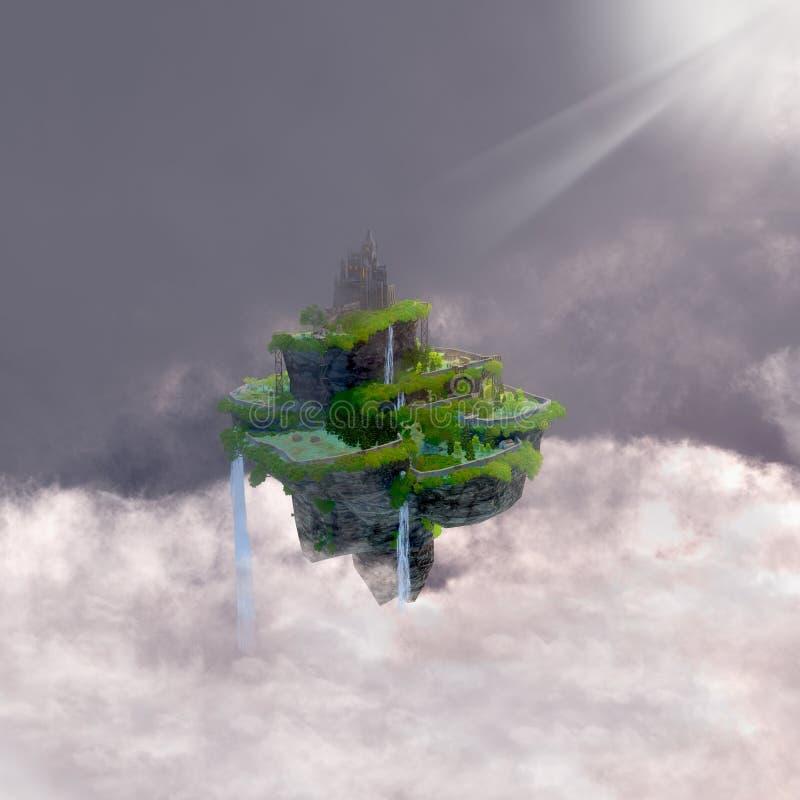 在云彩的城堡 向量例证