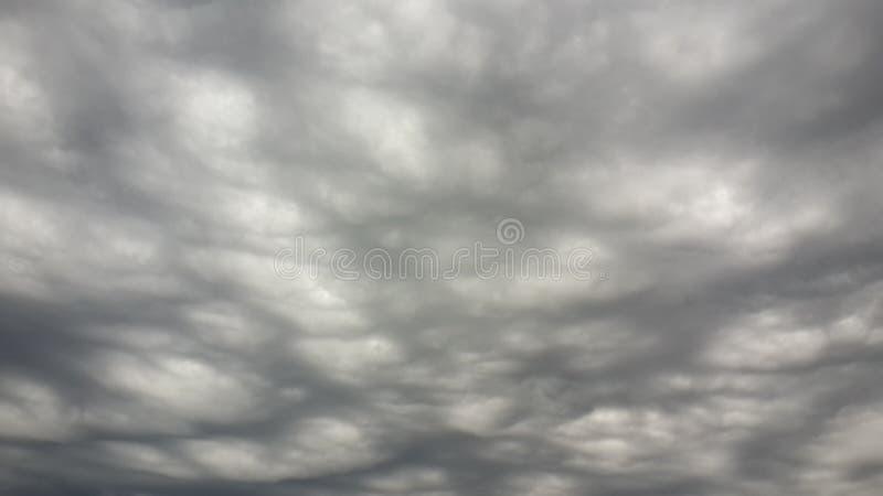 在云彩的孔 库存照片
