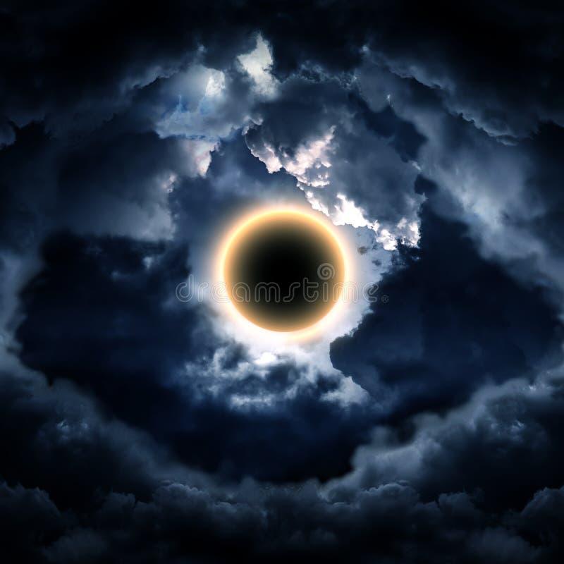 在云彩的抽象圈子 图库摄影