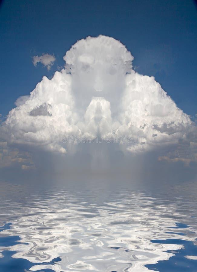 在云彩的虔诚的图 皇族释放例证