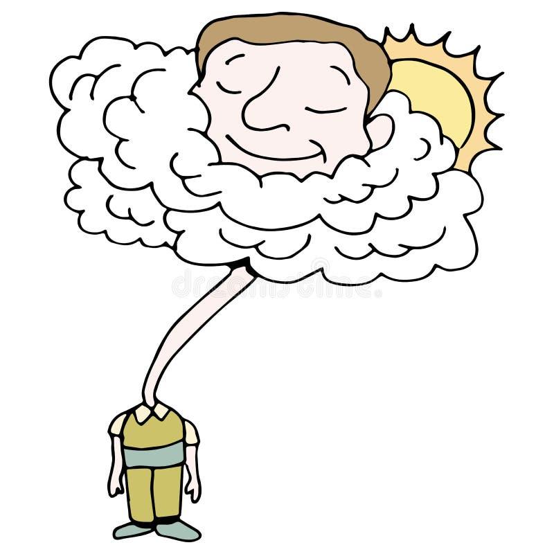在云彩的头 向量例证