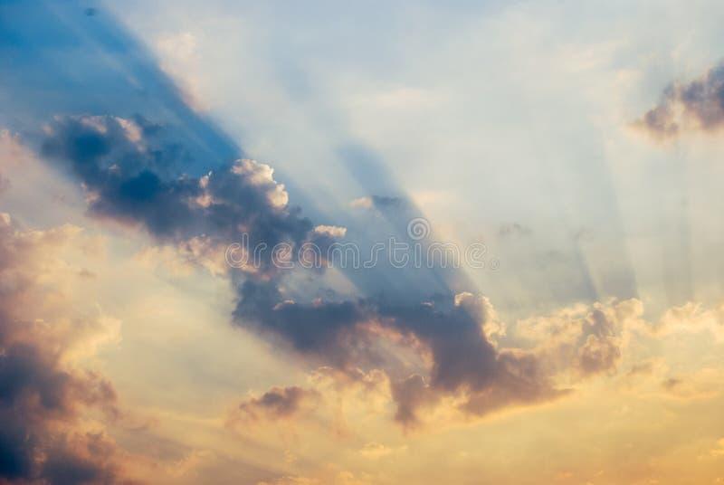 在云彩附近 库存照片