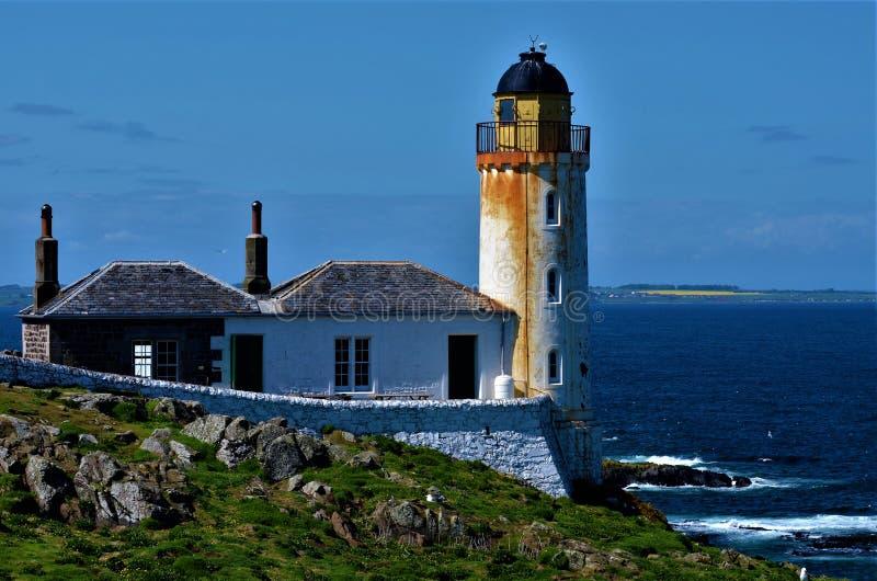 在五月岛的灯塔 免版税库存照片