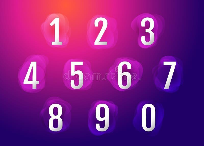 在五颜六色的可变的抽象形状背景的第1-10 皇族释放例证