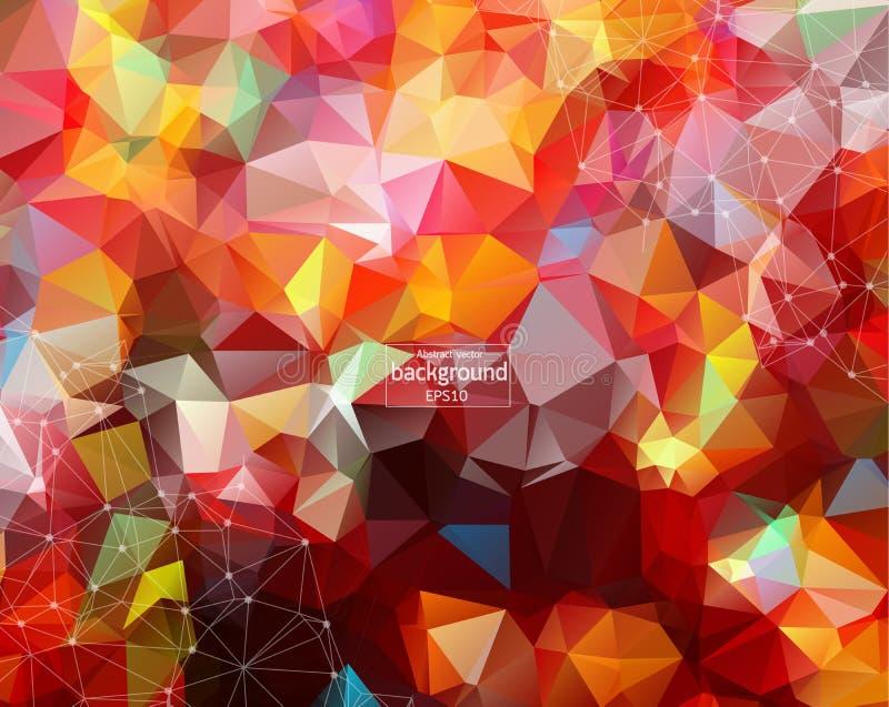 在五颜六色的背景隔绝的网络连接 对网站、墙纸、海报、招贴、广告、盖子和印刷品材料 Creat 向量例证