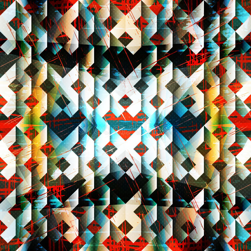 在五颜六色的背景难看的东西纹理的美好的几何样式 库存例证