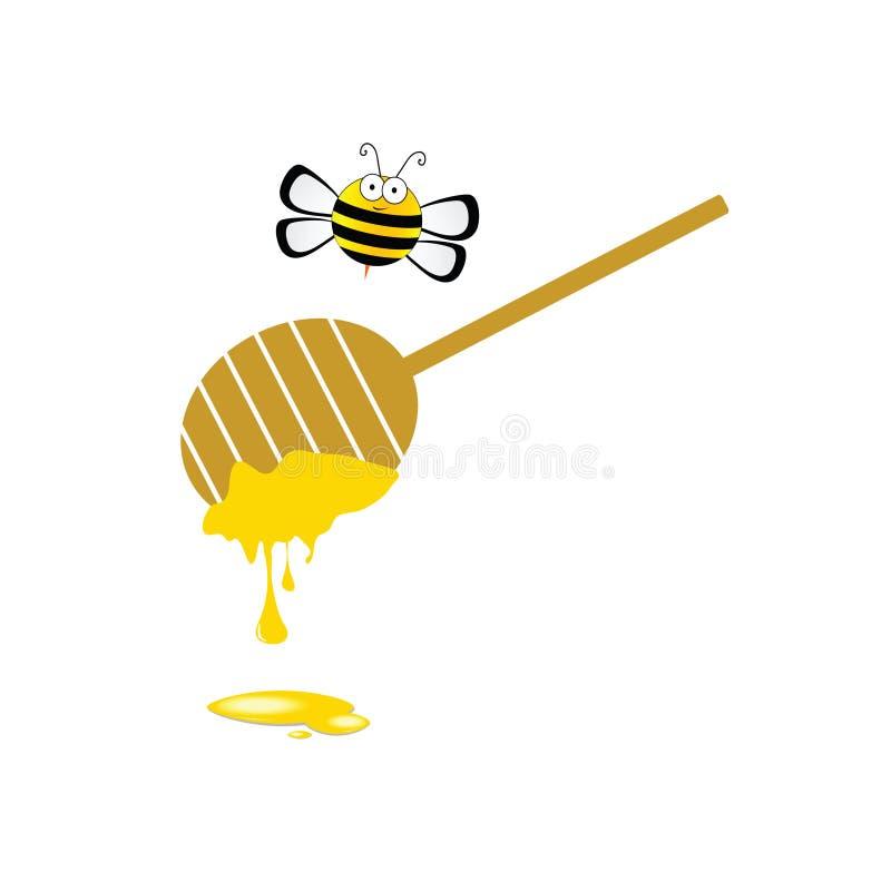 在五颜六色的蜂和蜂蜜传染媒介 皇族释放例证