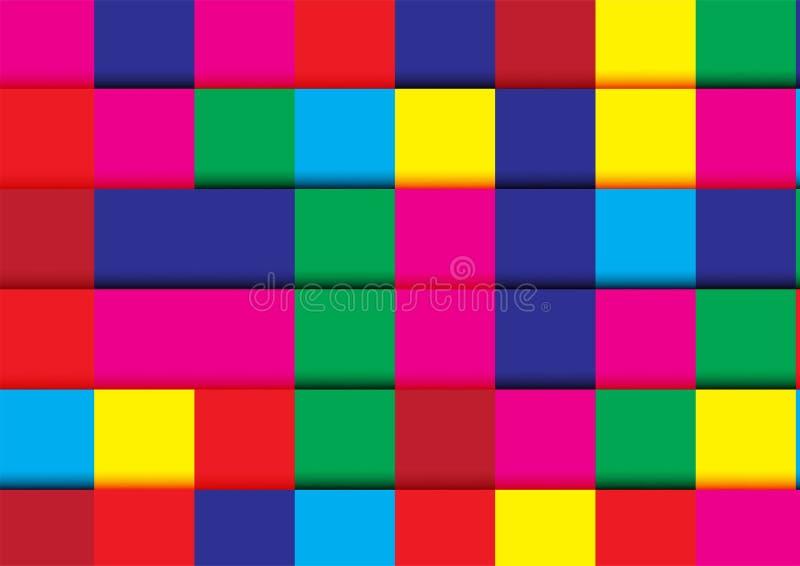 在五颜六色的颜色的现代抽象背景 模板设计fo 皇族释放例证