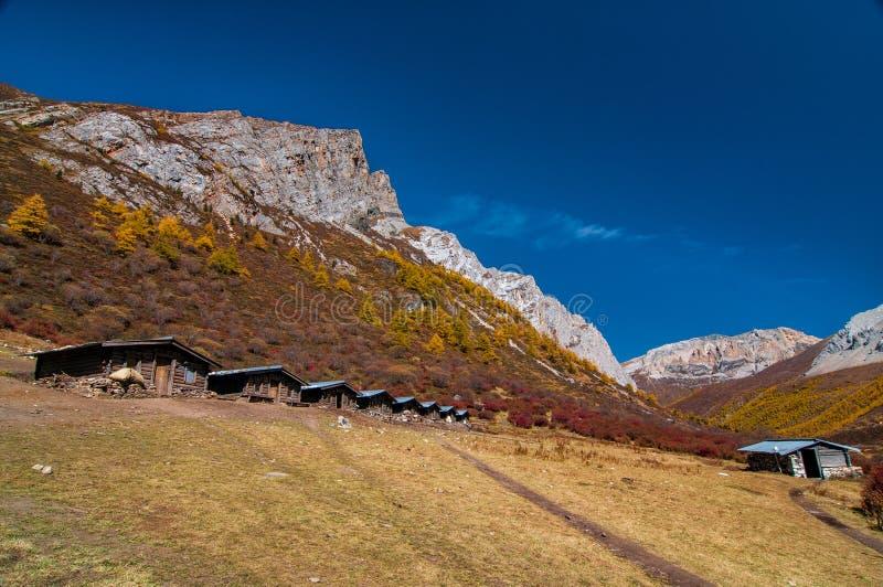 在亚丁自然保护的秋天风景 图库摄影