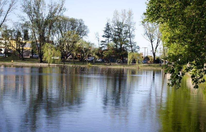 在亚尔他Gracia,阿根廷的El Tajamar水坝 免版税库存图片