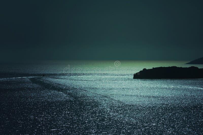 在亚得里亚海,黑山的手段海滩 库存图片