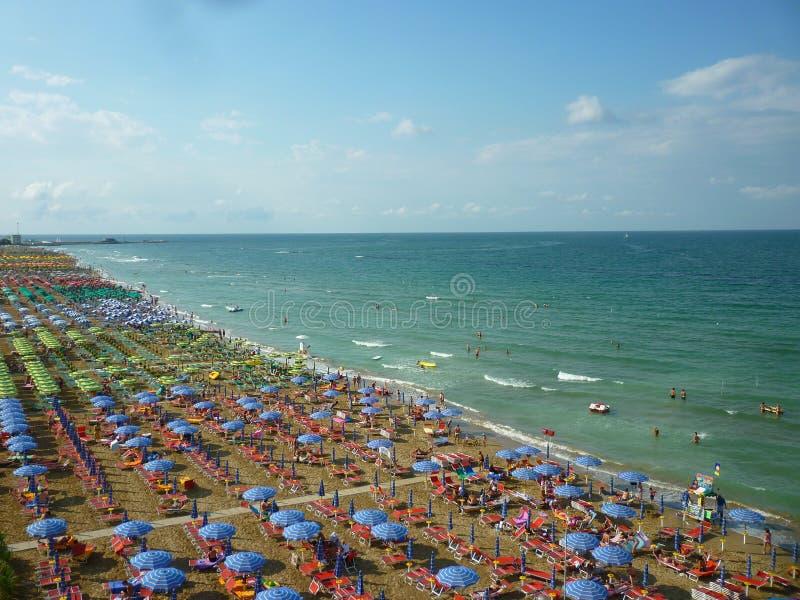 在亚得里亚的海滩 库存图片