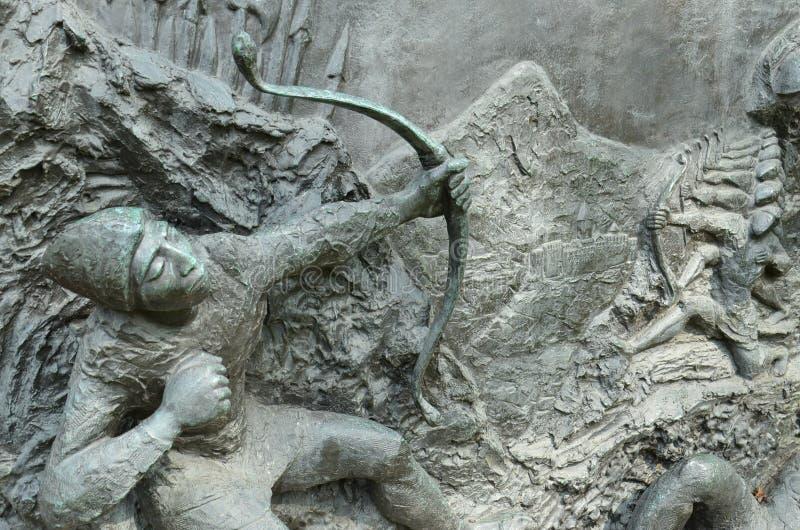 在亚美尼亚种族灭绝纪念碑-费城的细节 免版税图库摄影