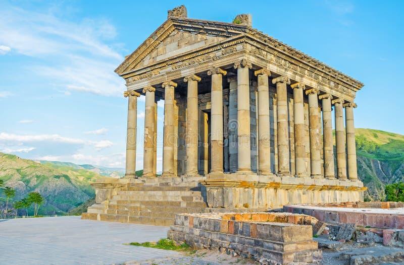 在亚美尼亚高地的罗马寺庙 库存图片