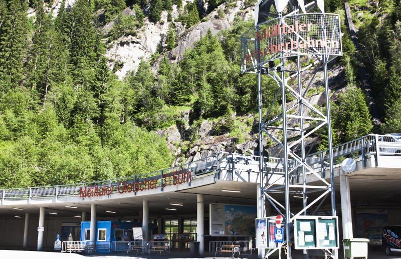 在亚蓝闪石的Flattach,奥地利举驻地 图库摄影