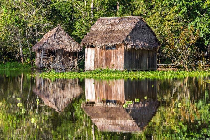 在亚马逊反映的棚子 库存照片