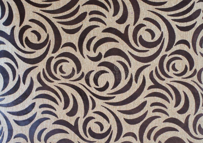 在亚麻制自然纹理的抽象棕色颜色样式 库存照片