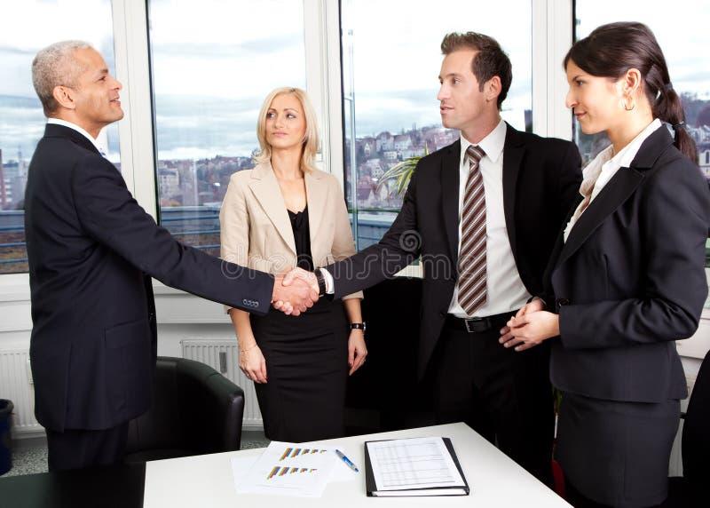 在交易的企业信号交换 库存照片
