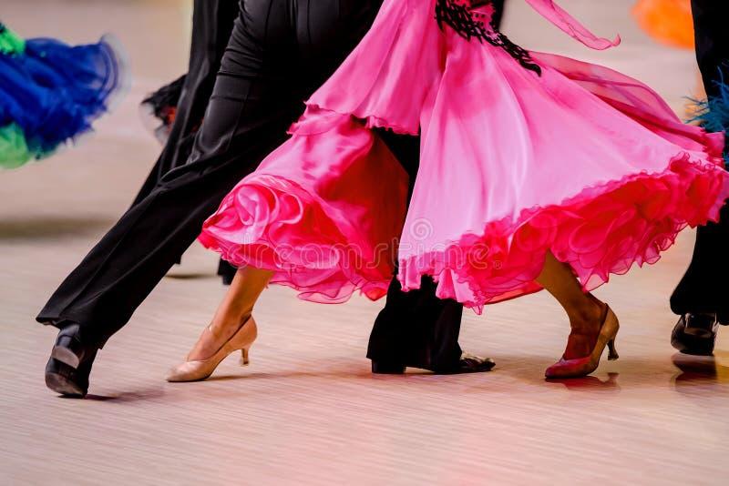 在交谊舞的竞争 库存照片