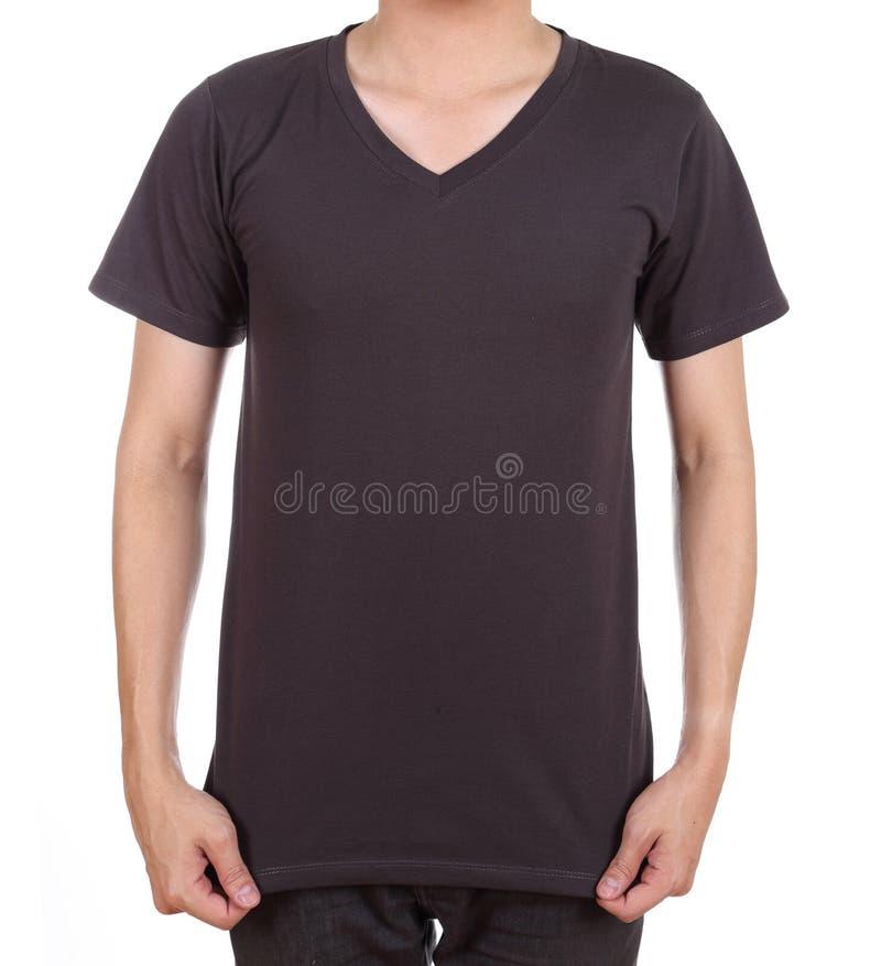 在人的空白的T恤杉 库存照片