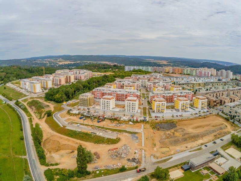 在从上面布尔诺- Bisterz的居住区Kamechy,捷克 库存图片