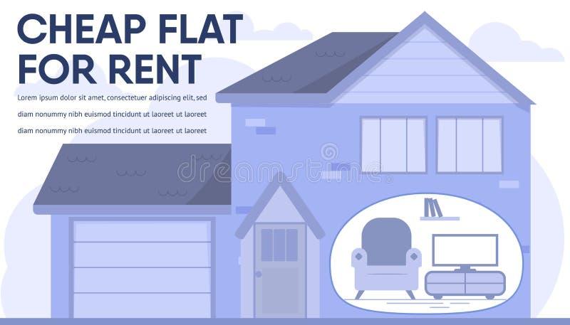 在付得起的价格横幅的房产销售 向量例证