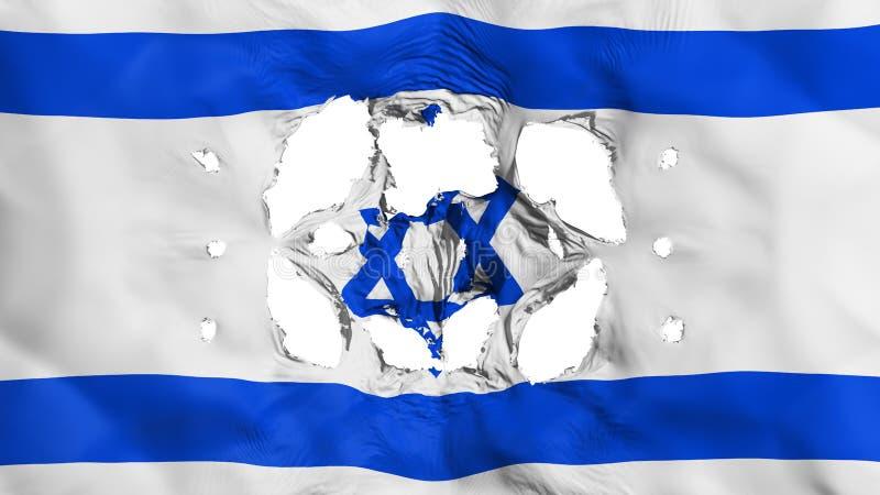在以色列旗子的孔 向量例证