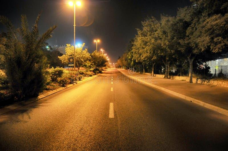 在以色列的一条空的街道 免版税库存图片