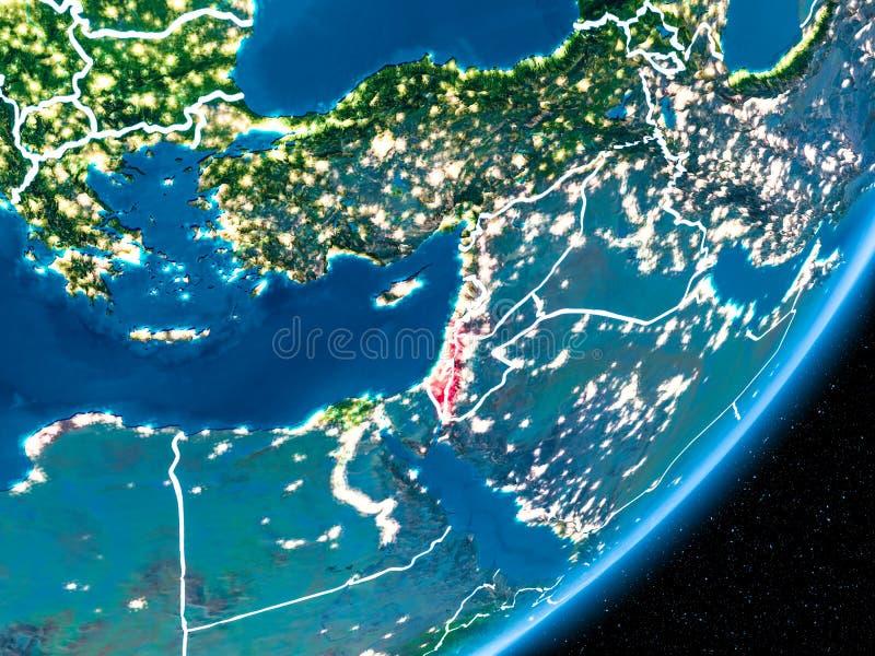 在以色列的夜 向量例证