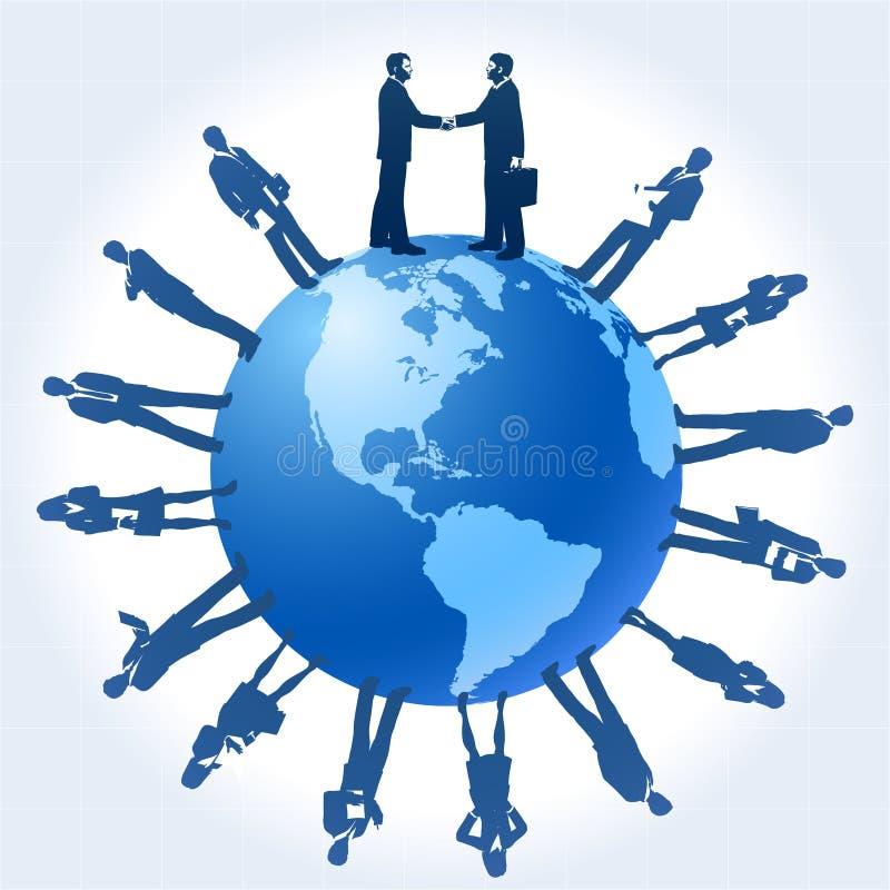在企业世界范围内 皇族释放例证