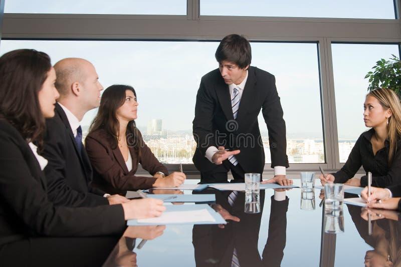 在企业研讨会期间的人们 库存照片