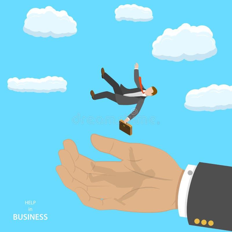 在企业等量平的传染媒介概念的帮助 向量例证