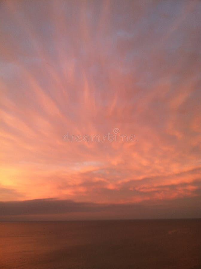 在伊利湖的天空 免版税库存照片