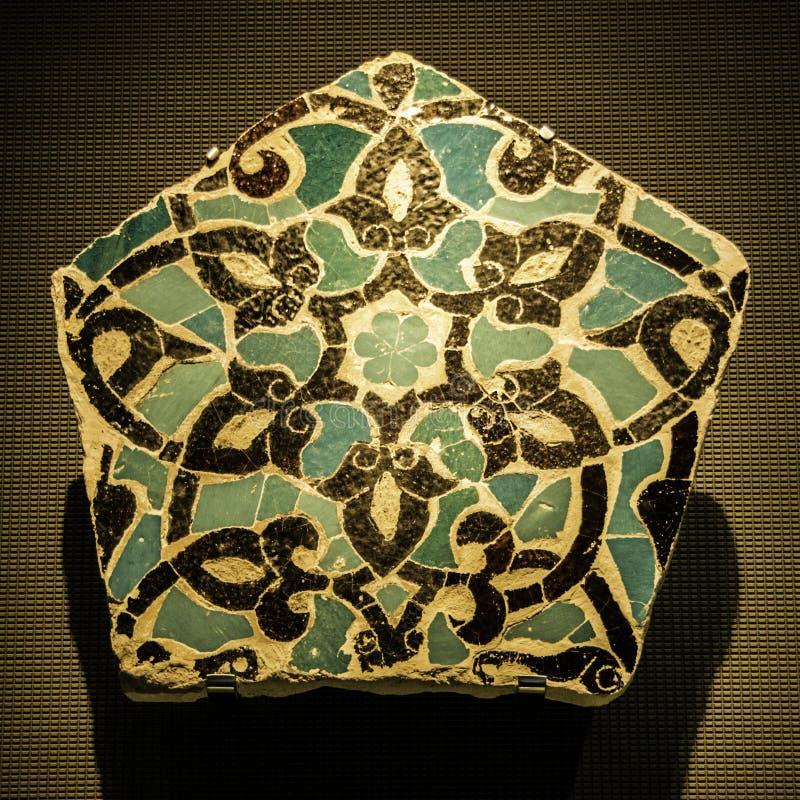 在伊斯兰教的艺术MIA博物馆的手工制造瓦片在多哈, capi 图库摄影