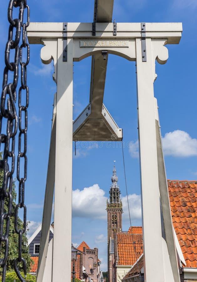 在伊顿干酪历史的cenetr的小木桥  免版税库存照片