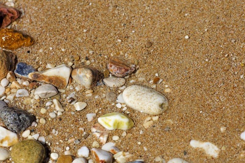 在优质印刷品产品的令人惊讶的干净的海滩水抽象背景美术 库存图片