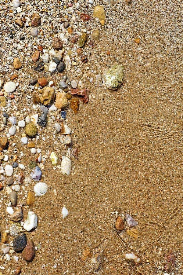 在优质印刷品产品的令人惊讶的干净的海滩水抽象背景美术 免版税库存图片