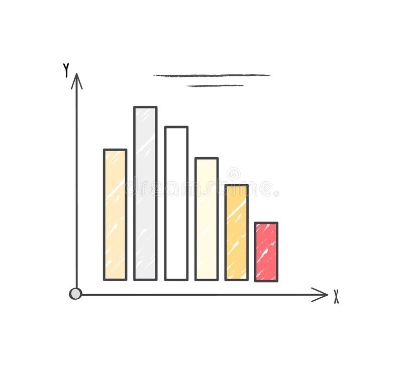 在传染媒介例证的五颜六色的图表系统 库存例证