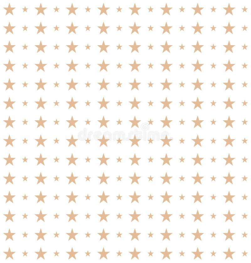 在传染媒介做的星的无缝的样式 向量例证