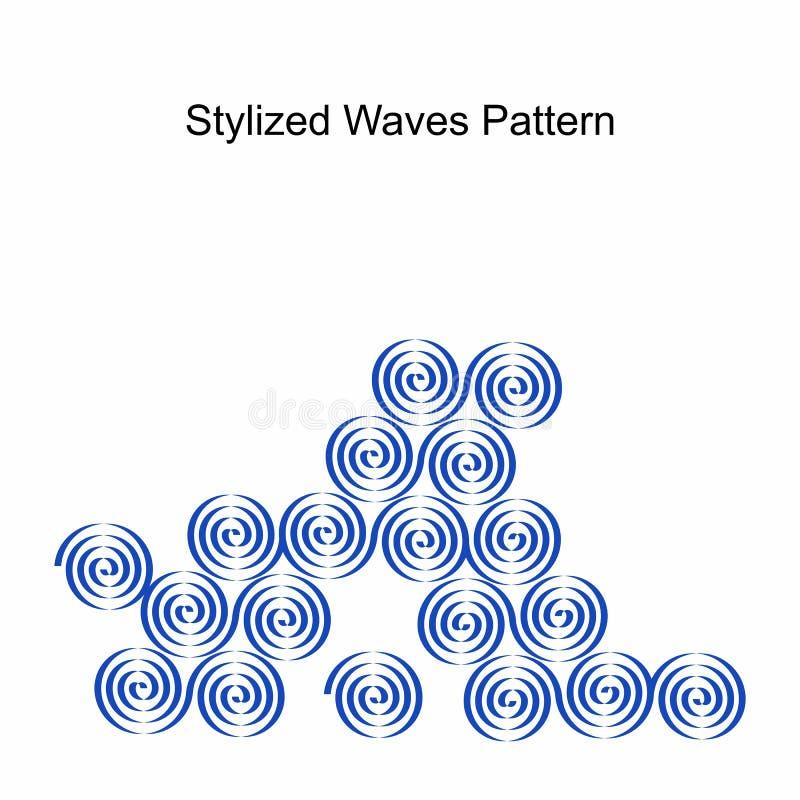 在传染媒介的抽象波动图式 替代colldet10709 colldet10711 com设计dreamstime生态学能源图象这里href http查出的徽标更多面板次幂符号太阳向量白色万维网 向量例证