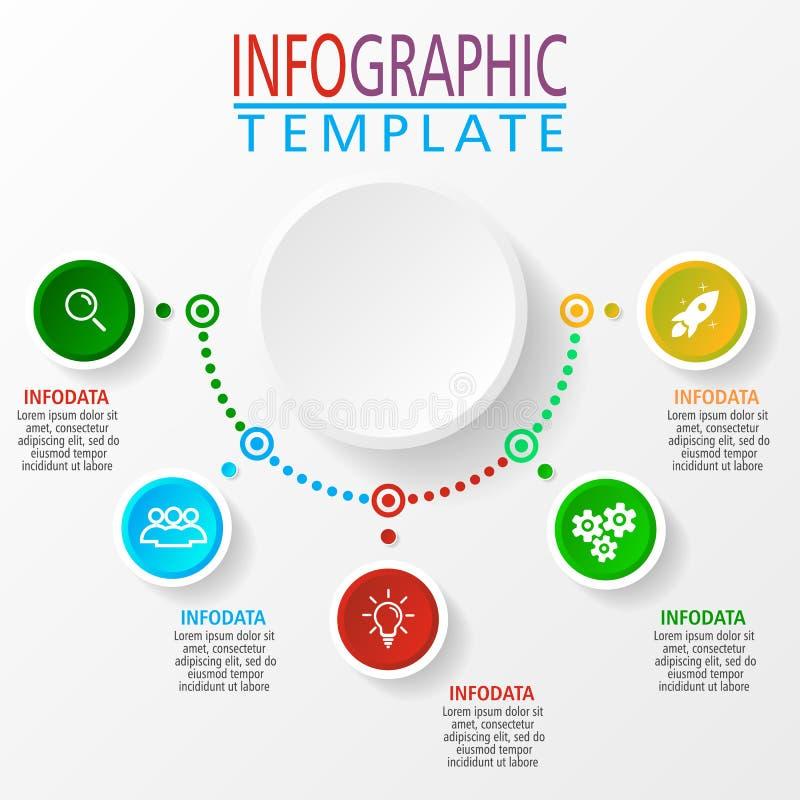 在传染媒介的Infographic例证 向量例证