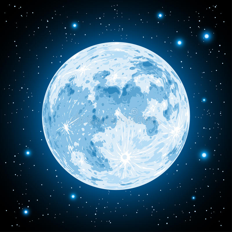 在传染媒介的月亮 向量例证