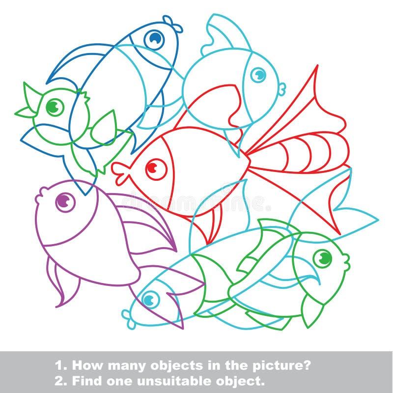 在传染媒介的鱼杂烩五颜六色的集合 向量例证