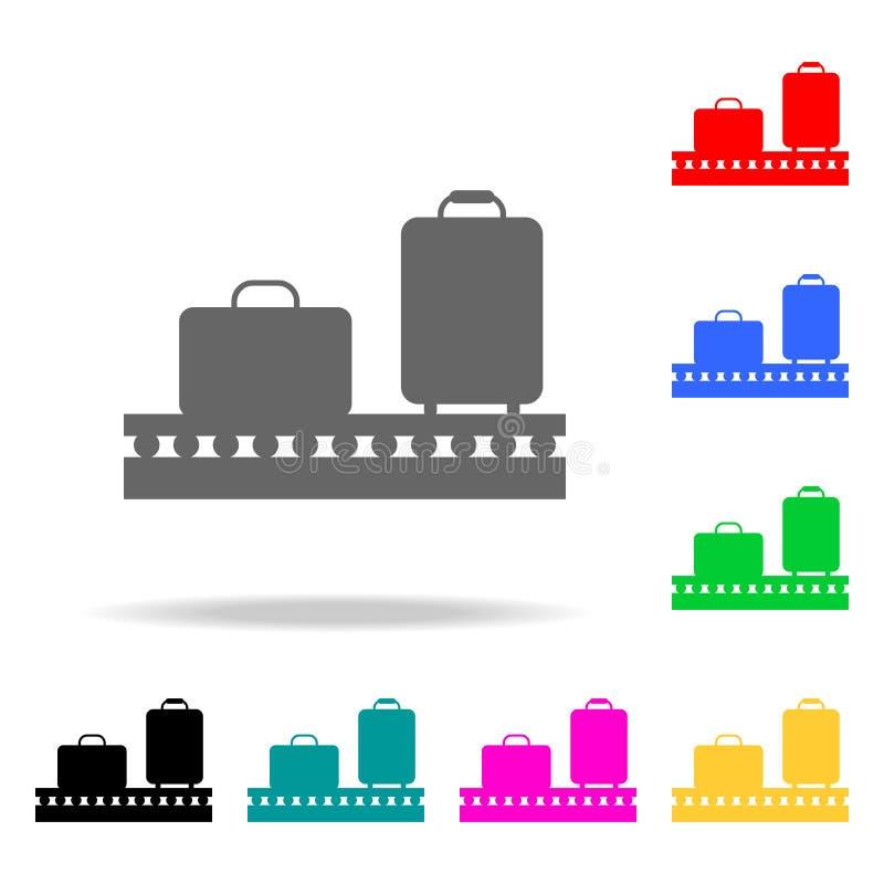 在传送带象的行李 机场多色的象的元素 优质质量图形设计象 网的简单的象 皇族释放例证