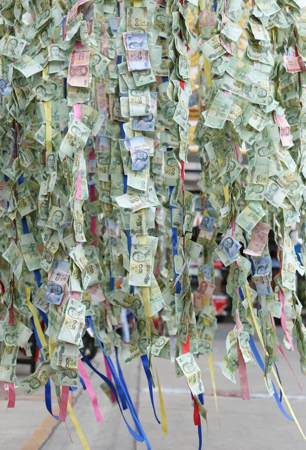 在传统的泰国钞票背景宗教的 库存图片