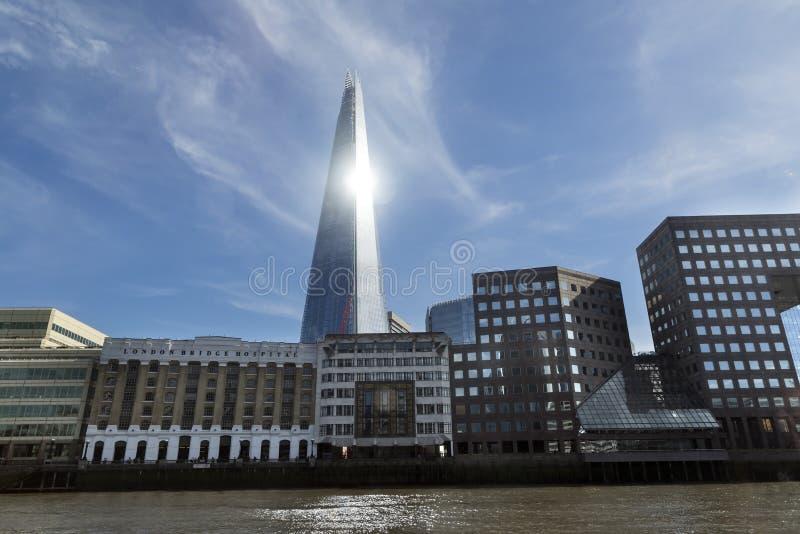 在伦敦地平线的碎片 免版税库存照片