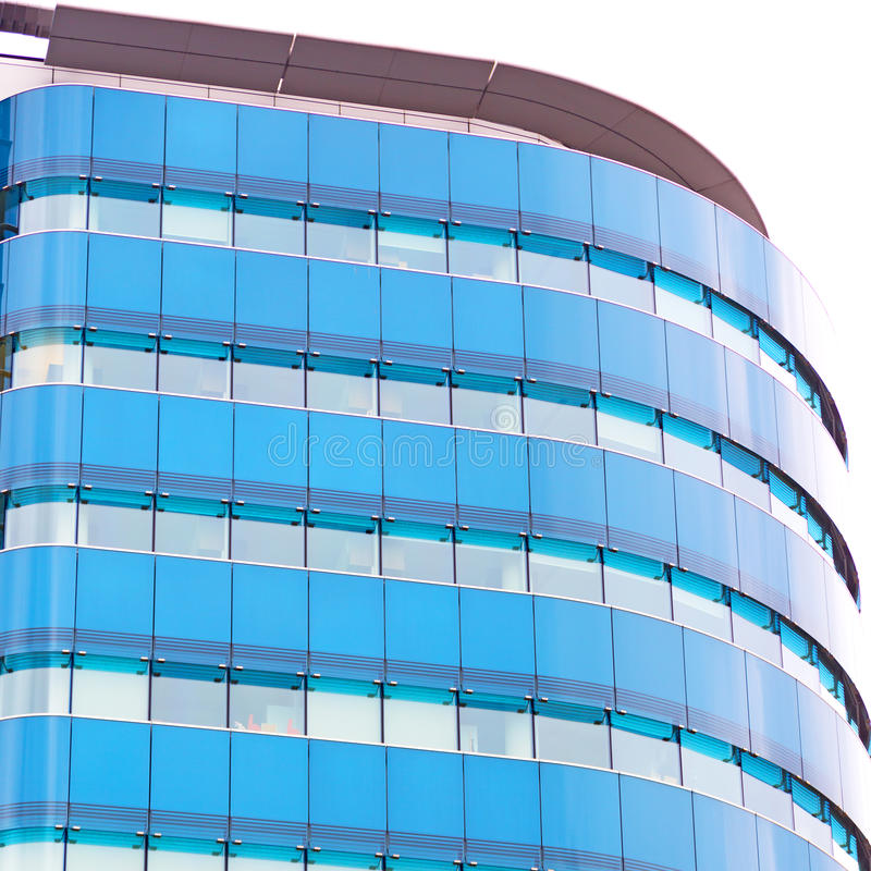 在伦敦摩天大楼财政区和wi的新的大厦 免版税库存图片