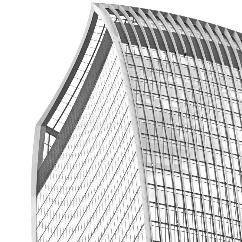 在伦敦摩天大楼财政区和wi的新的大厦 免版税图库摄影